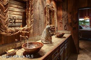 Copper basin & custom tiles