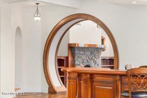 Curved Mahogany Bar