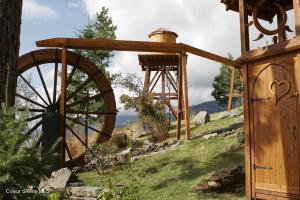 WATER WHEEL TOWER AND SHOWER