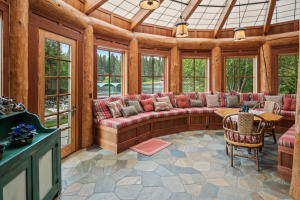 Enclosed sitting room off of patio