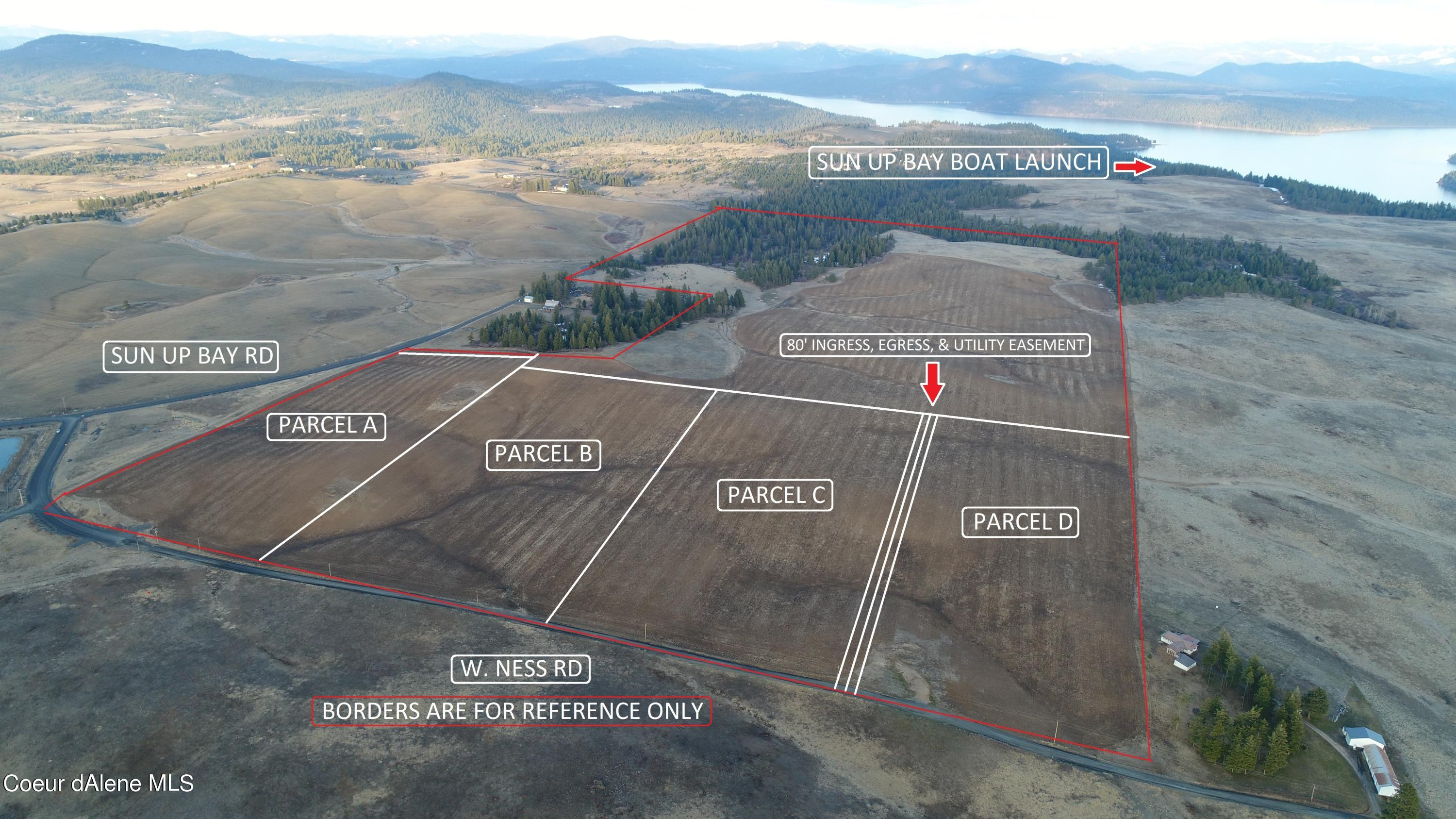 photo of   Ness Rd. Parcel D (20 AC)  Worley Idaho 83876