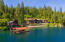 2 bedroom guest house and 2-slip private boat dock, with sandy beach.