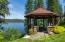 Lake view gazebo