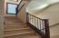 New LVP flooring in stairwell