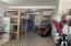 Workshop and storage space in 2 car garage.