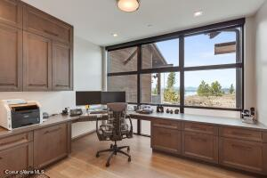 Office with Lake Views