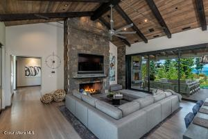 Open Living Stone Fireplace