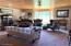 Formal Living Room - Glass Chandelier, Bay Window -- 19'X17.5'
