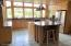 Gourmet Kitchen - 14.5' X 22' Huge Pantry 7' X 4.5' -- Log Accents.