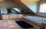 Master Bath - Jetted Tub, Walk-in Shower, Tile floors, Gable, T&G Knotty Pine Ceiling.--. 8.5'X17'