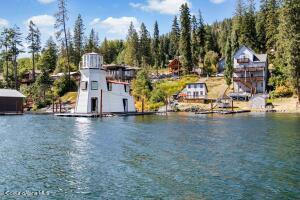 House boat (Lighthouse) view from Lake Pend Oreille
