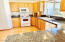 KITCHEN IS WIRED FOR BOTH GAS AND ELECTRIC STOVE! SELLER OPTED FOR ELECTRIC...