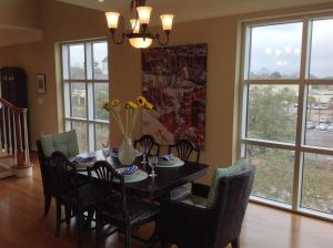 Beautiful views from the spacious dining area.