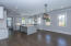 Expansive dining room and kitchen