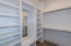 MBR closet #1 with mirror and custom designed built ins