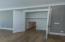 1st floor flex room closet with extra conditioned storage