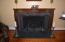 Formal living room fireplace