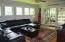 Family/Marsh room with sliding doors to screened porch