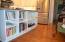 Built-in wine and cookbook rack
