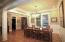 Custom lighting can be found throughout the home.