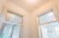 Interior door windows