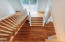 Staircase to two upstairs bedrooms