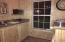 Pool house kitchen.