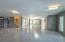 Garage with epoxy coated floors