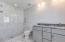 Large walk-in shower and double vanity