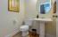 Downstairs powder room