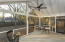 Beautiful screened patio and large/private backyard for entertaining.