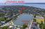 south facing aerial shot to show where Ashley River meets Charleston harbor. City tennis courts just across the lake.