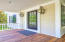 Gas lanterns adorn the front entrance and give it simple southern charm!
