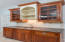 Nice wet bar with lots of storage