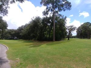 Looking at the back of the lot. To the right is the 10th fairway and to the left is of the practice green