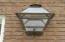 Gas lanterns on garage!