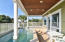 Swim up bar with underwater stools in this heated plunge pool and spa - vacation paradise!