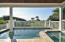 2916 Palm Blvd Luxurious Saltwater Heated Pool with Spa Accessible from Main Floor.
