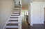 Stained oak-tread staircase