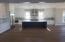 large kitchen with oversized island