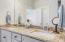 Dual granite top vanities in master bath