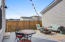 Entertain on the nicely sized back patio
