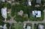 Aerial view of corner lot