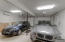Oversized two car garage with elevator right to the kitchen area!