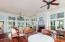 Large living/ dining area with plenty of natural light