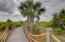 2916 Palm Blvd Private Roped Boardwalk with curves and angles along natural greenery.