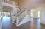 Beautifully trimmed foyer