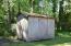 Storage shed.