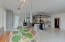 Professional grade kitchen with large eat-in area