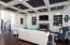 Coffered Ceilings, Decorative shelving with lighting